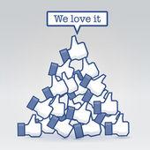 We love it — Stock Vector