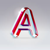 Glossy plastic artistic typeface — Stock Vector