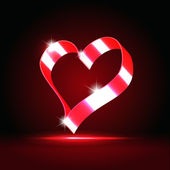 Glowing heart — Vettoriale Stock