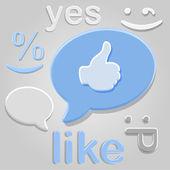 Like group symbols over gray — Stock Vector