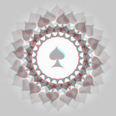 Spades 3d background — Stock Vector