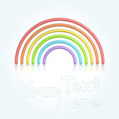 Rainbow symbol — Stock Vector