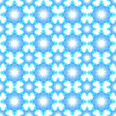 Abstrakte schneeflocke verwirrt nahtlose hintergrundmuster — Stockvektor