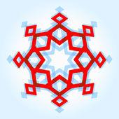 Abstract geometric snowflake — Stock Vector