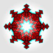 Red festive christmas star — Stock Vector