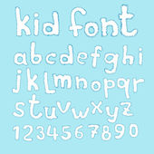 Doodle kid abc typeset — Stock Vector