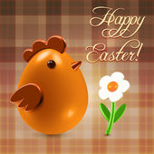Warm Easter greetings postcard — Stock Photo