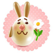 Sweet rabbit congtatulations — Stock Photo
