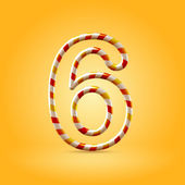 Number six — Stock Vector