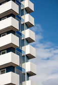 Balconies of modern building — Stockfoto