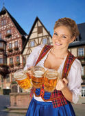 Young sexy Oktoberfest woman — Stock Photo