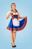 Young sexy Oktoberfest woman — Stock Photo