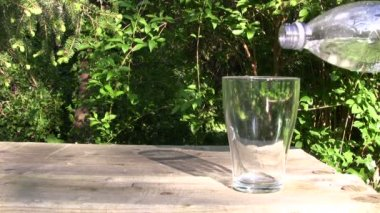 Glass of Fresh Water — Video Stock