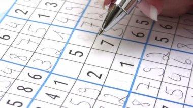 Sudoku — Stock Video #12490900