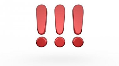 Three Exclamation Marks Bouncing — Wideo stockowe