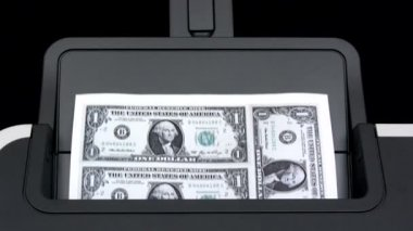 Printing Dollar Banknotes — Stock Video