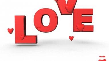 Corazones de amor — Vídeo de Stock