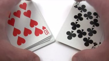 Shuffling Playing Cards — Stock Video