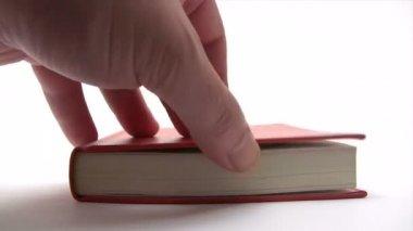 Navegación por páginas del libro — Vídeo de Stock