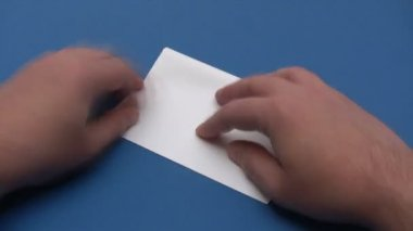 Folding a Paper Boat - Time Lapse — Стоковое видео