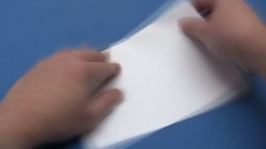 Folding a Paper Plane - Time Lapse — Vídeo Stock