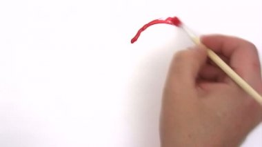 Painting a Red Heart - Time Lapse — 图库视频影像