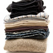 Stacked Clothes — Stock Photo