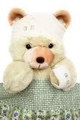 Injured Teddy Bear — Stock Photo
