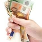 ������, ������: Grabbing Euro Banknotes