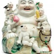 Stock Photo: Colorful Porcelain Buddha