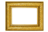 Golden Picture Frame with Ornaments — Stock Photo