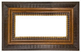 Brown Picture Frame with Clipping Path — Stock Photo