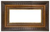 Marco de fotos marrón con trazado de recorte — Foto de Stock