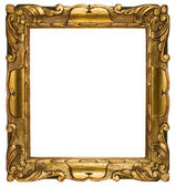 Picture Frame Gold with Clipping Path Isolated on a White Backgr — Stock Photo