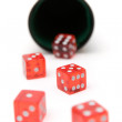 Stock Photo: Rolling the Dice