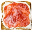 Toast with Jam — Stockfoto