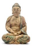 Buddha in legno antico — Foto Stock