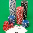 Poker Equipment — Stock Photo
