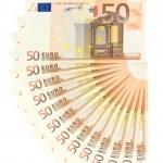 Fifty Euro Money Fan — Stock Photo #19409261