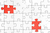 Two Missing Jigsaw Pieces — Stock Photo