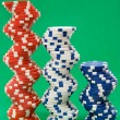 Three Stacks of Poker Chips — Stock Photo #19473715