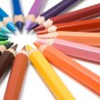 Circle of Colored Pencils — Stok fotoğraf