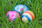 Three Hidden Easter Eggs — Stock Photo