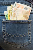 Stuffed Trouser Pocket — Stock Photo