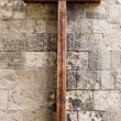 Wooden Cross on Wall — Stockfoto