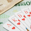 Royal Flush on Banknotes — Stock Photo