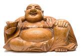 Graven Wooden Buddha — Stock Photo