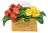 Väska med blommor — Stockfoto