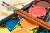 Watercolors Close View — Stock Photo