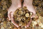 Garść pieniędzy — Zdjęcie stockowe